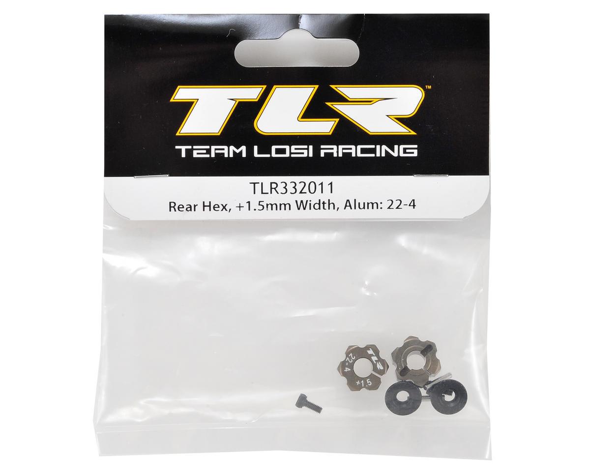 Team Losi Racing 22-4 Aluminum Rear Hex Set (+1.5mm)