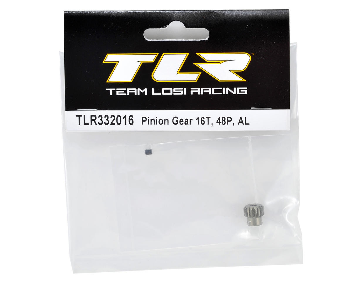 Team Losi Racing Aluminum 48P Pinion Gear (3.17mm Bore) (16T)