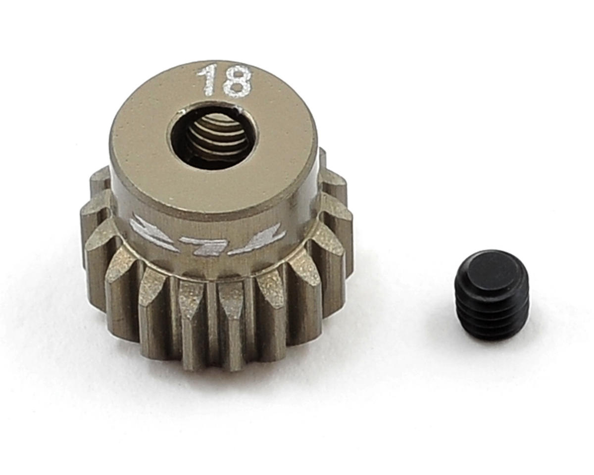 Aluminum 48P Pinion Gear (3.17mm Bore) (18T) by Team Losi Racing