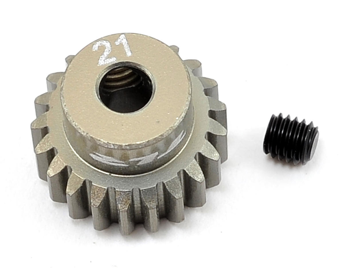 Aluminum 48P Pinion Gear (3.17mm Bore) (21T) by Team Losi Racing