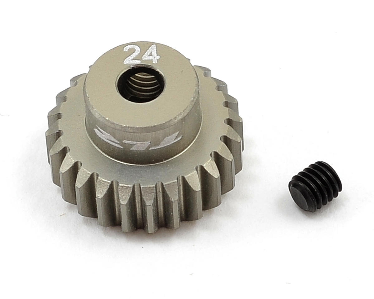 Aluminum 48P Pinion Gear (3.17mm Bore) (24T) by Team Losi Racing
