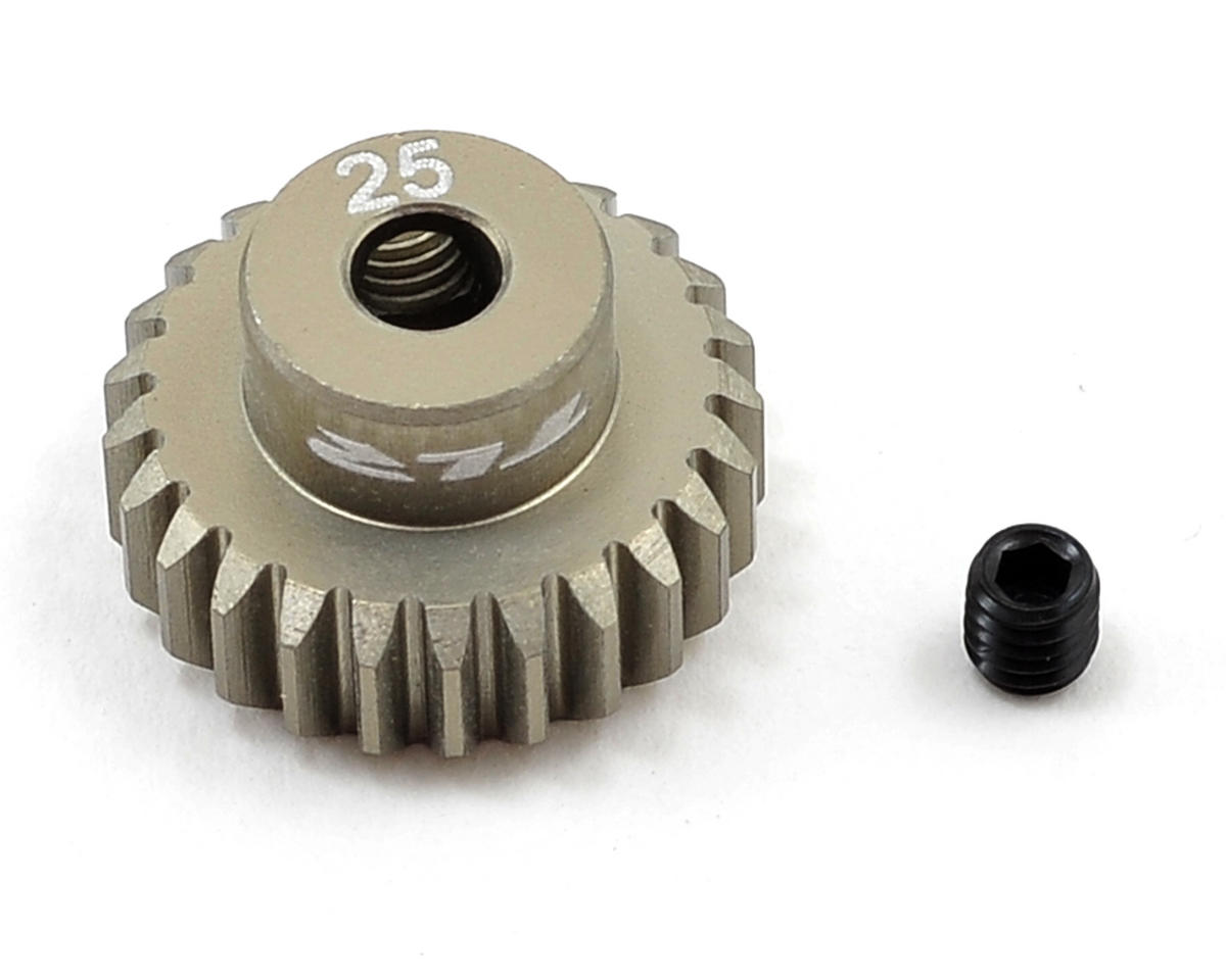 Aluminum 48P Pinion Gear (3.17mm Bore) (25T) by Team Losi Racing