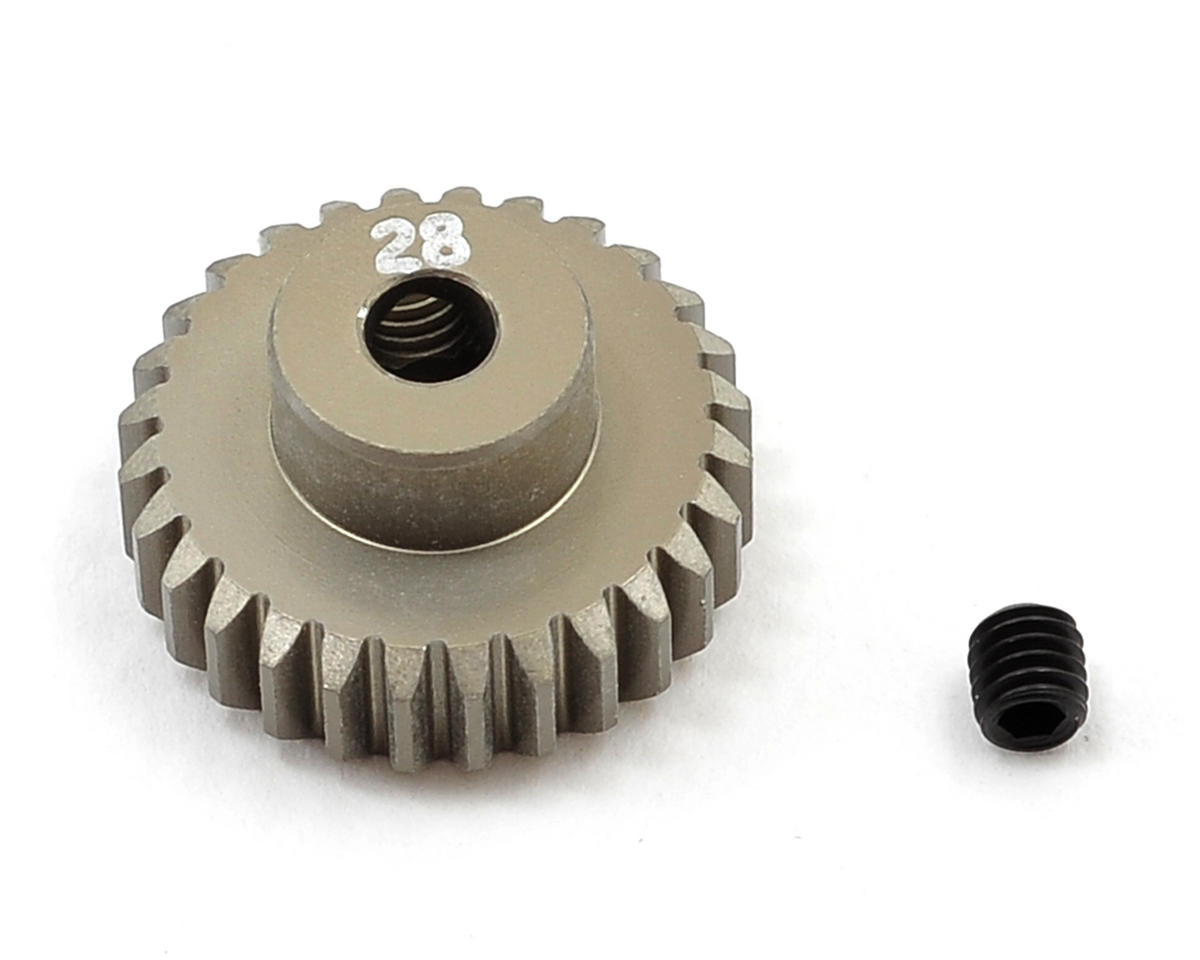 Aluminum 48P Pinion Gear (3.17mm Bore) (28T) by Team Losi Racing