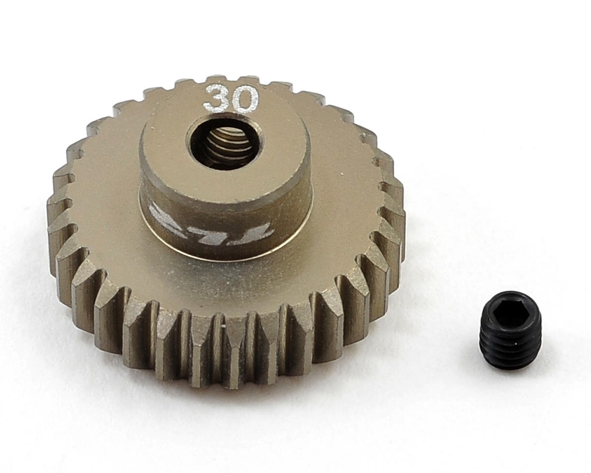 Aluminum 48P Pinion Gear (3.17mm Bore) (30T) by Team Losi Racing