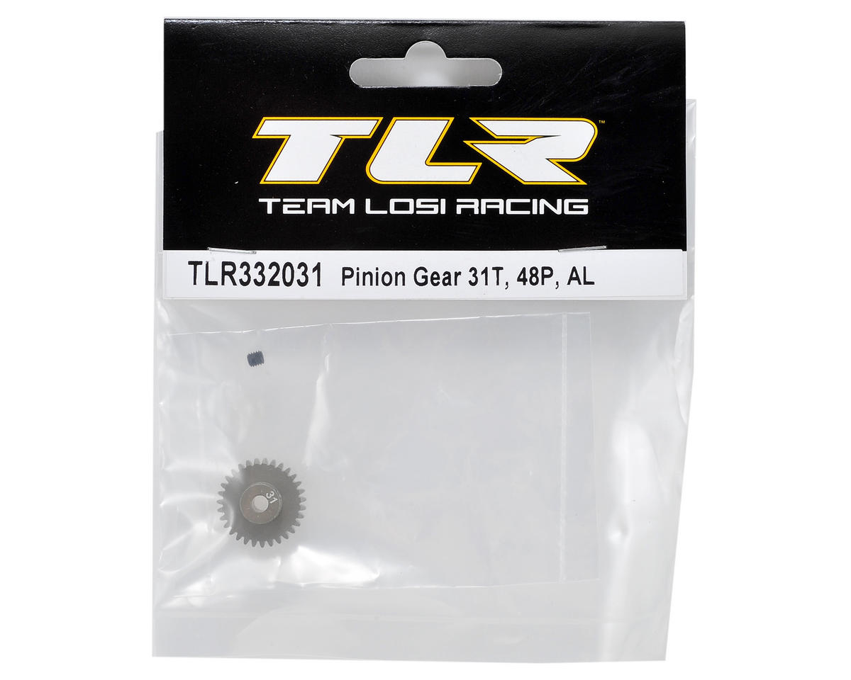 Team Losi Racing Aluminum 48P Pinion Gear (3.17mm Bore) (31T)