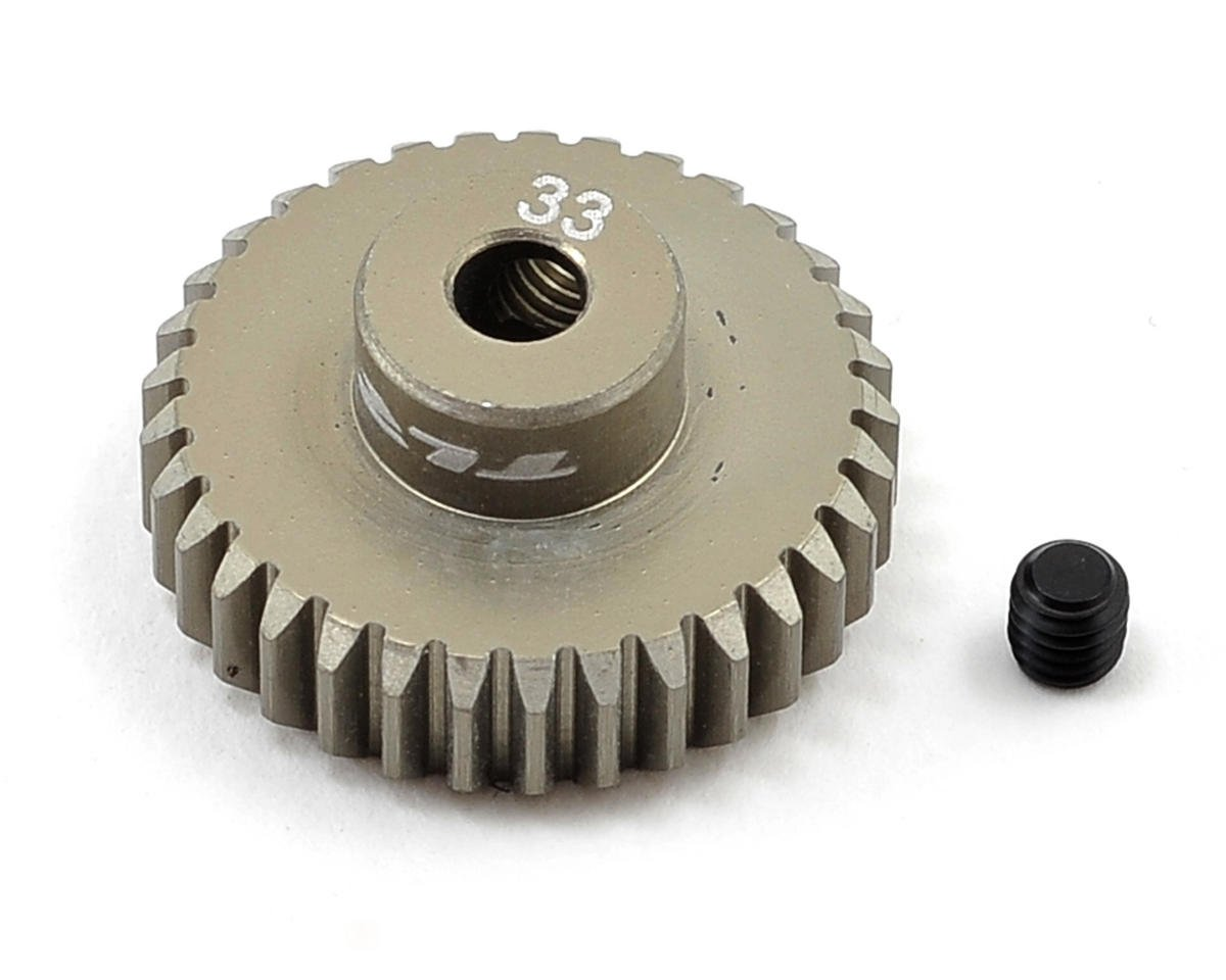 Aluminum 48P Pinion Gear (3.17mm Bore) (33T) by Team Losi Racing