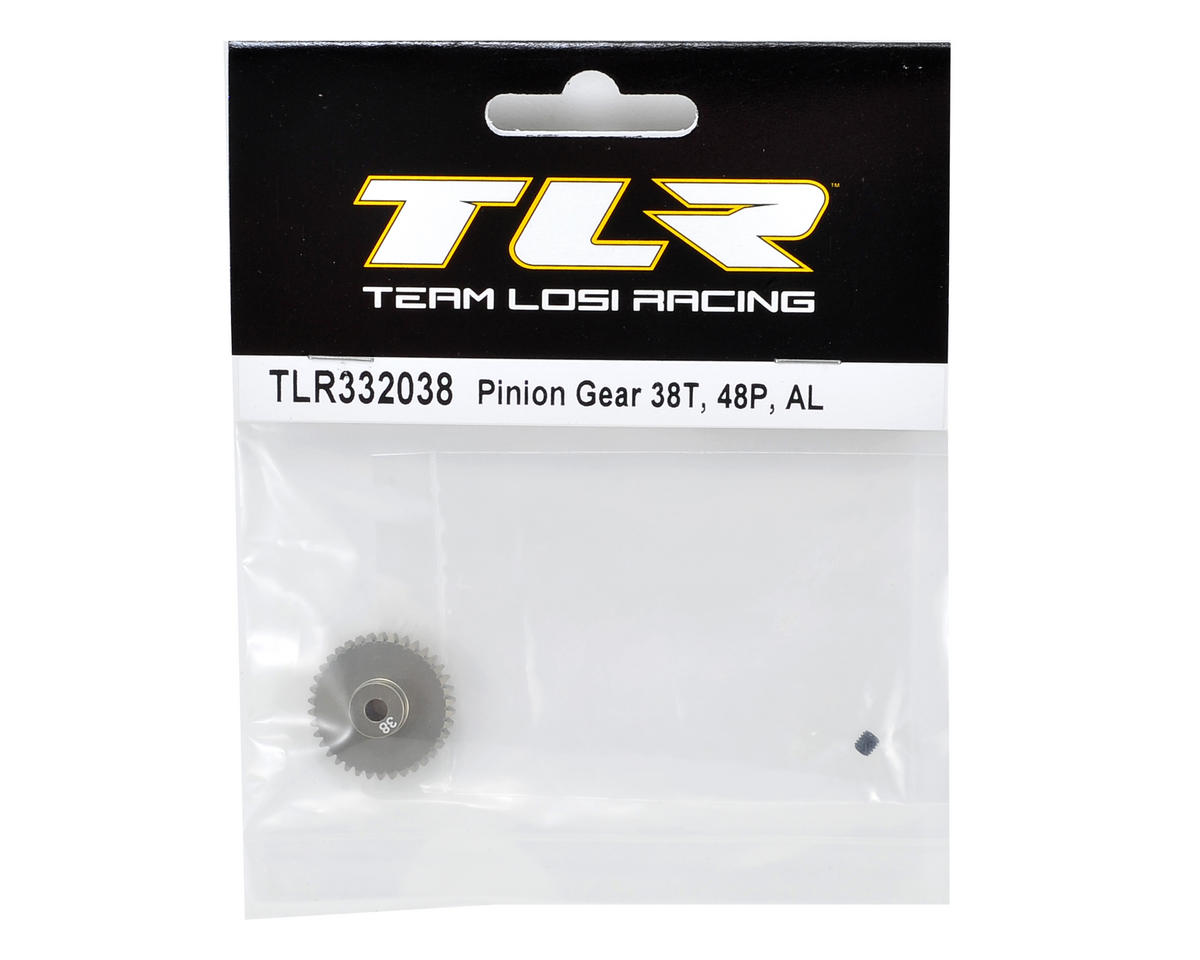 Team Losi Racing Aluminum 48P Pinion Gear (3.17mm Bore) (38T)
