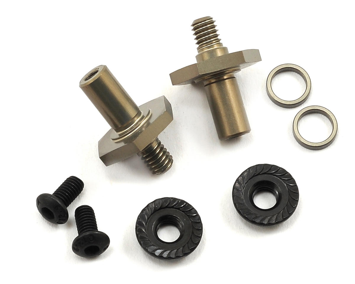 22 3.0 Aluminum 12mm Hex Front Axle Set by Team Losi Racing