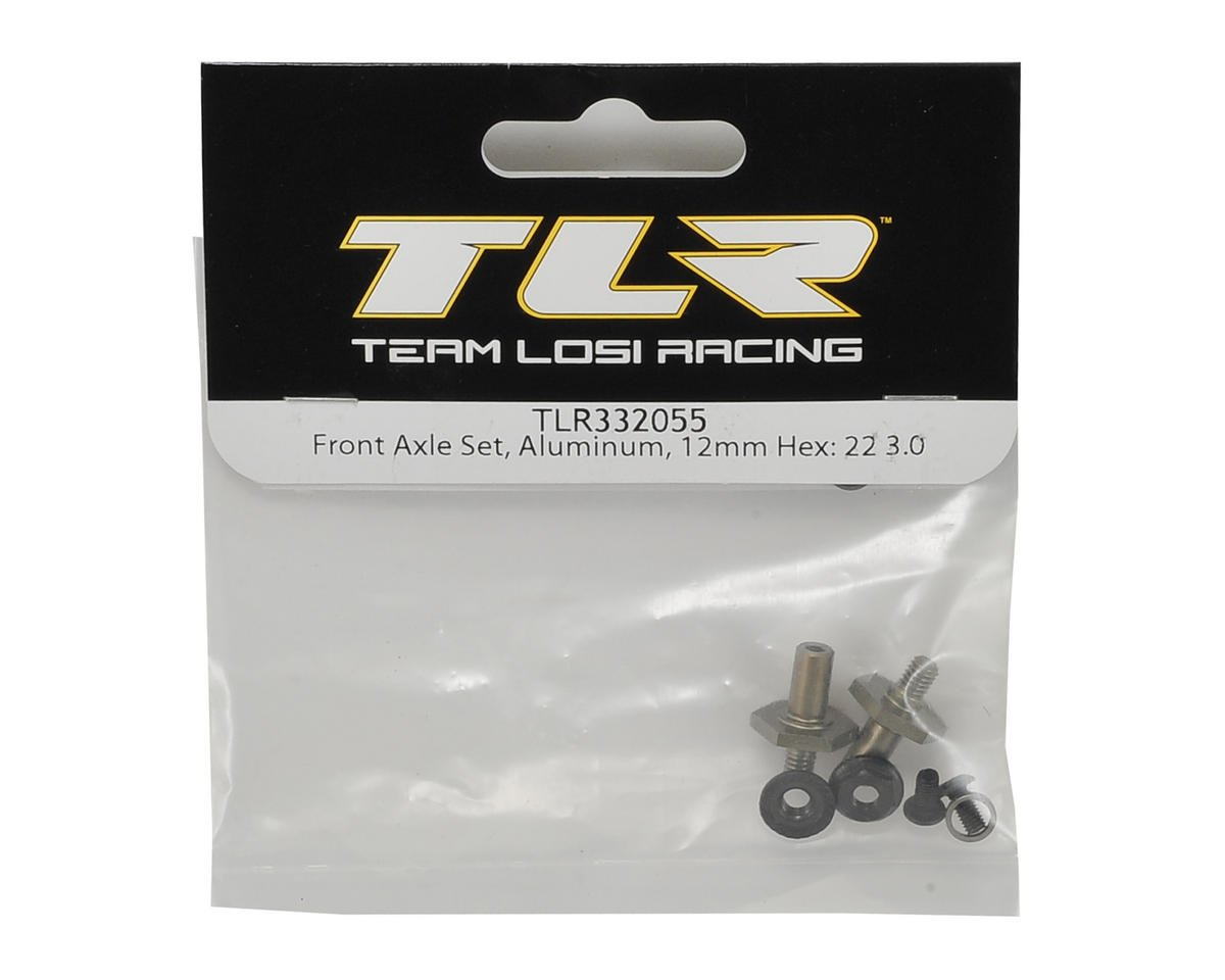 Team Losi Racing 22 3.0 Aluminum 12mm Hex Front Axle Set