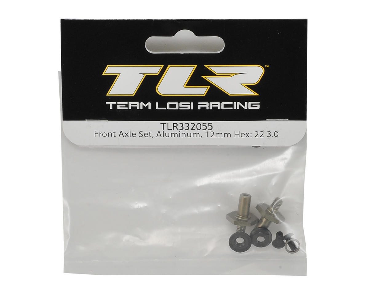 Team Losi Racing 22 3.0 Aluminum 12mm Hex Front Axle Set