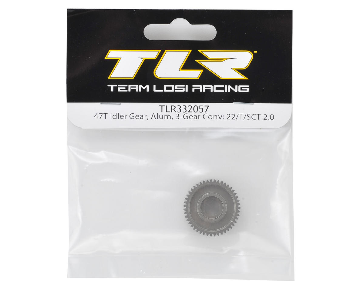 Team Losi Racing 3-Gear Aluminum Idler Gear (47T) 22/T/SCT 2.0
