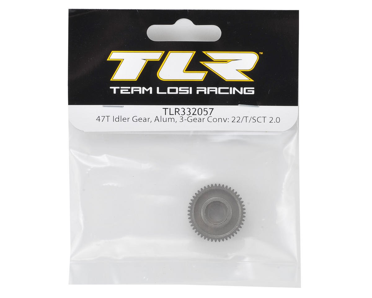 3-Gear Aluminum Idler Gear (47T) 22/T/SCT 2.0 by Team Losi Racing