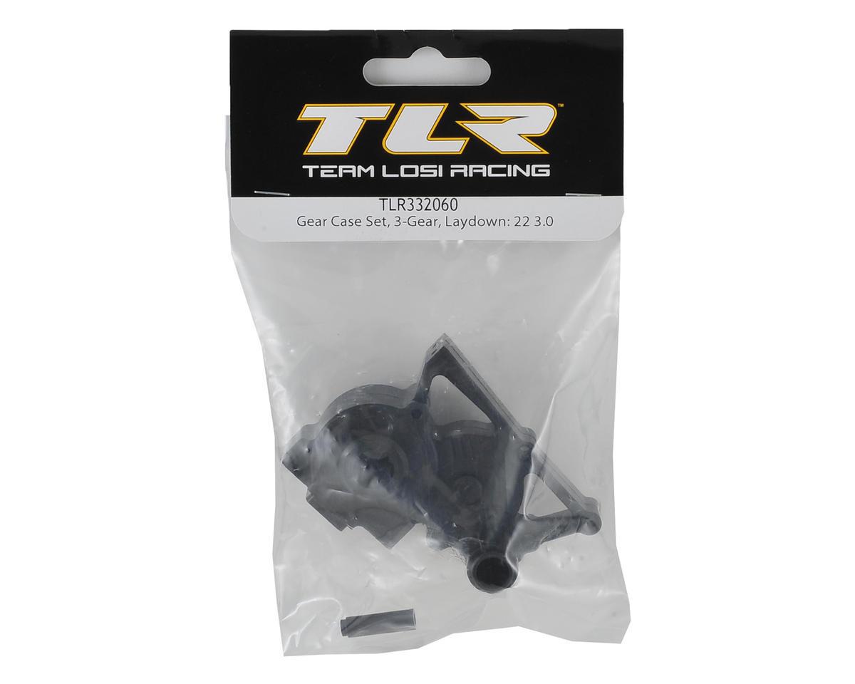 Team Losi Racing 22 3.0 3-Gear Laydown Gearbox Case