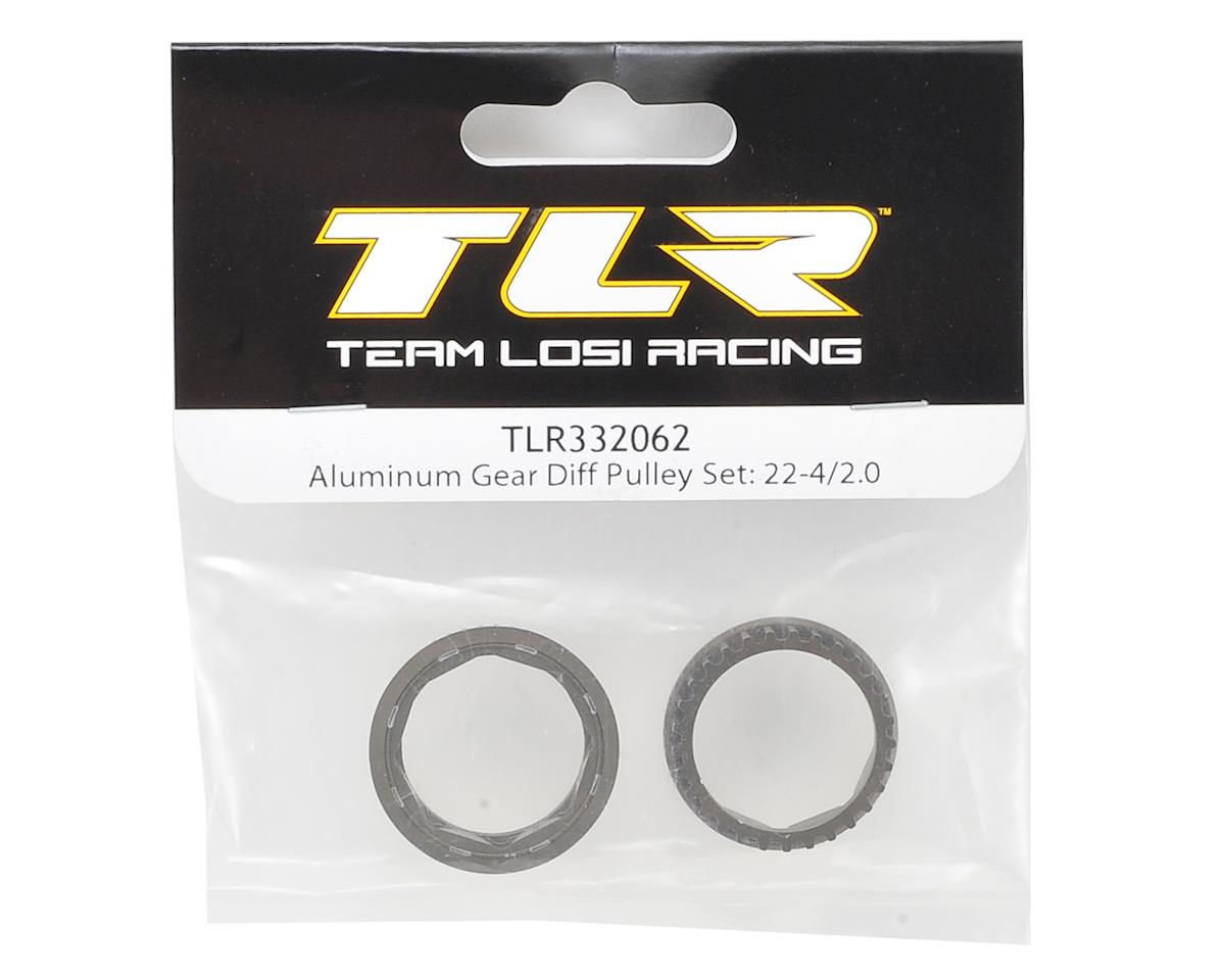 Team Losi Racing 22-4 2.0 Aluminum Gear Diff Pulley Set