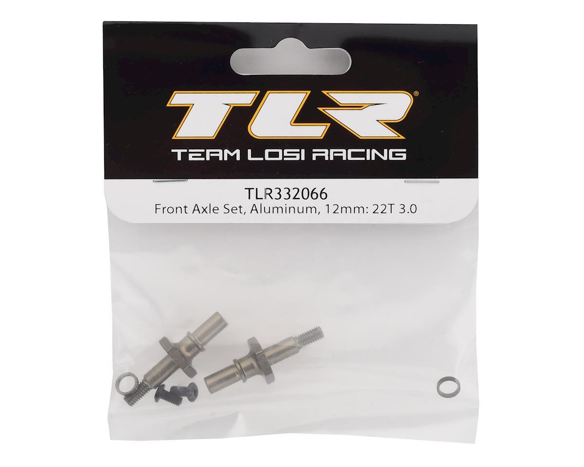 Team Losi Racing 22T 3.0 Aluminum 12mm Hex Front Axle Set