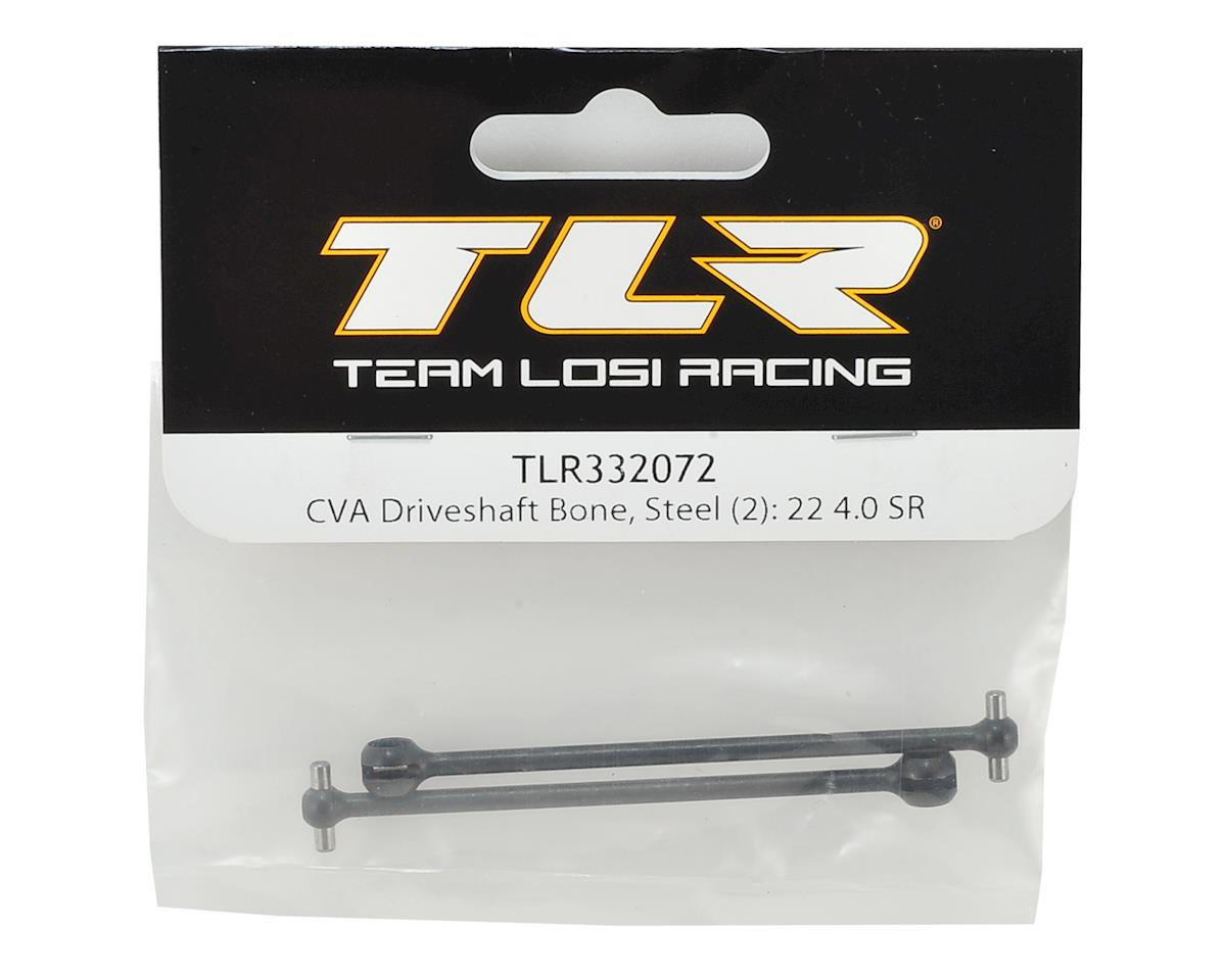 Team Losi Racing 22 4.0 SPEC-Racer Steel CVA Driveshaft Bone (2)