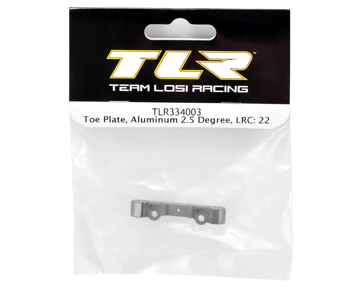 Team Losi Racing 2.5° Aluminum LRC Rear Toe Plate