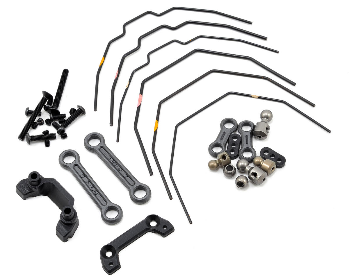 22-4 Front & Rear Sway Bar Kit by Team Losi Racing