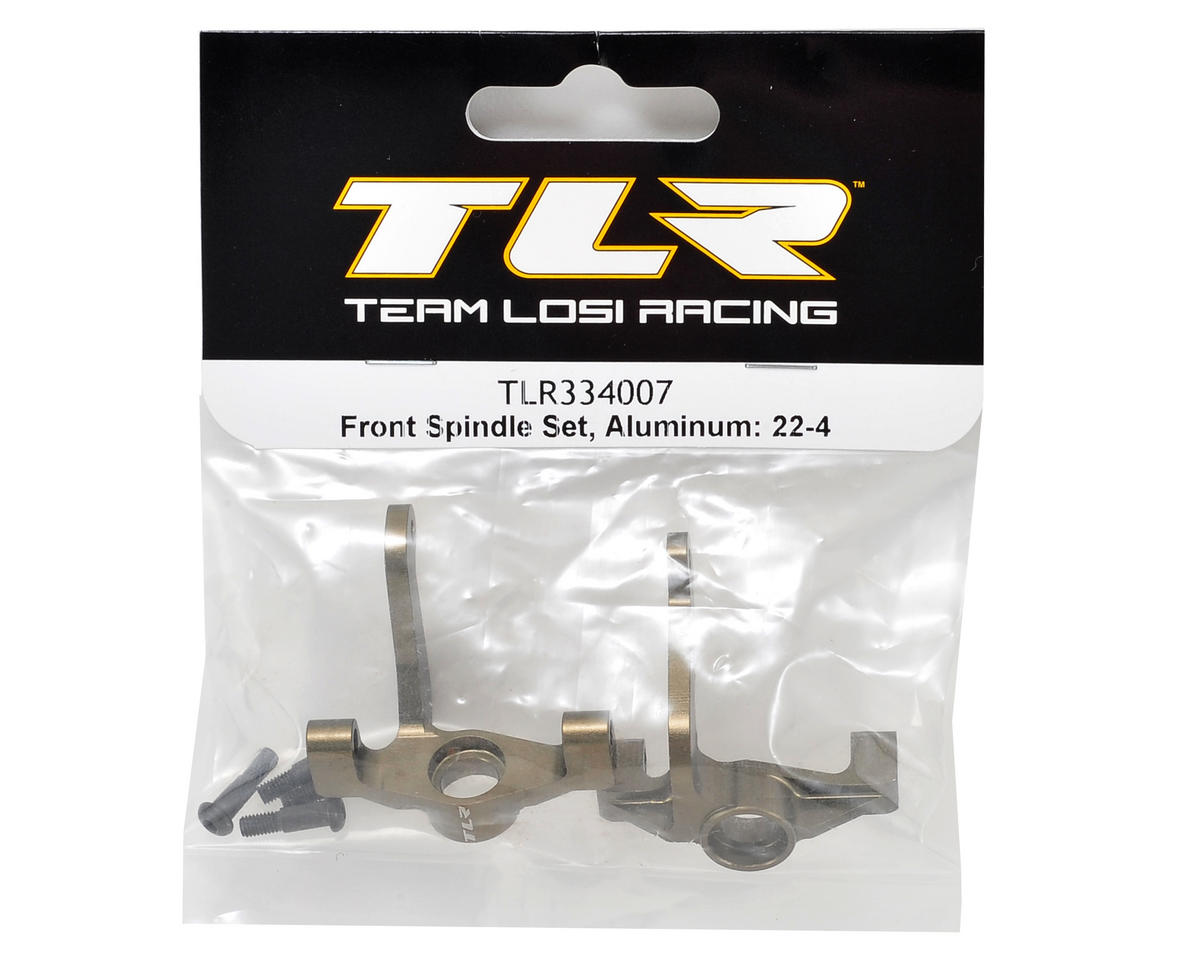 22-4 Aluminum Front Spindle Set by Team Losi Racing