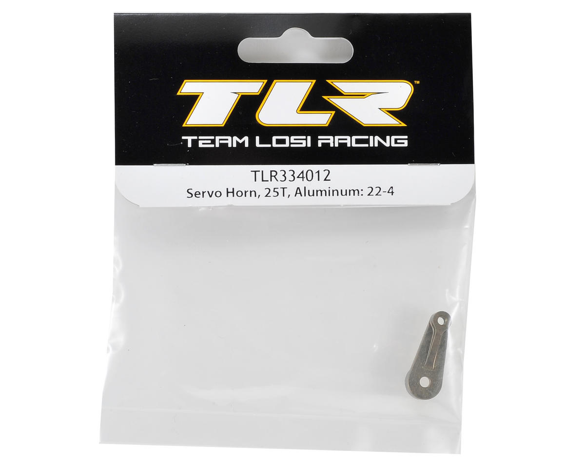 Team Losi Racing 22-4 Aluminum Servo Horn (25T-Futaba/Orion/Savox/ProTek)