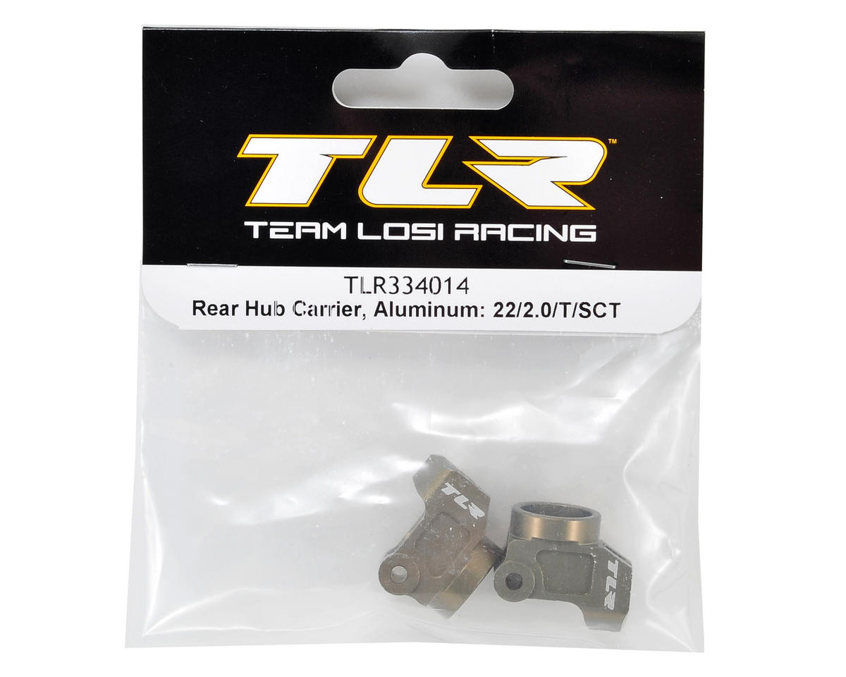 Team Losi Racing Aluminum Rear Hub Carrier Set