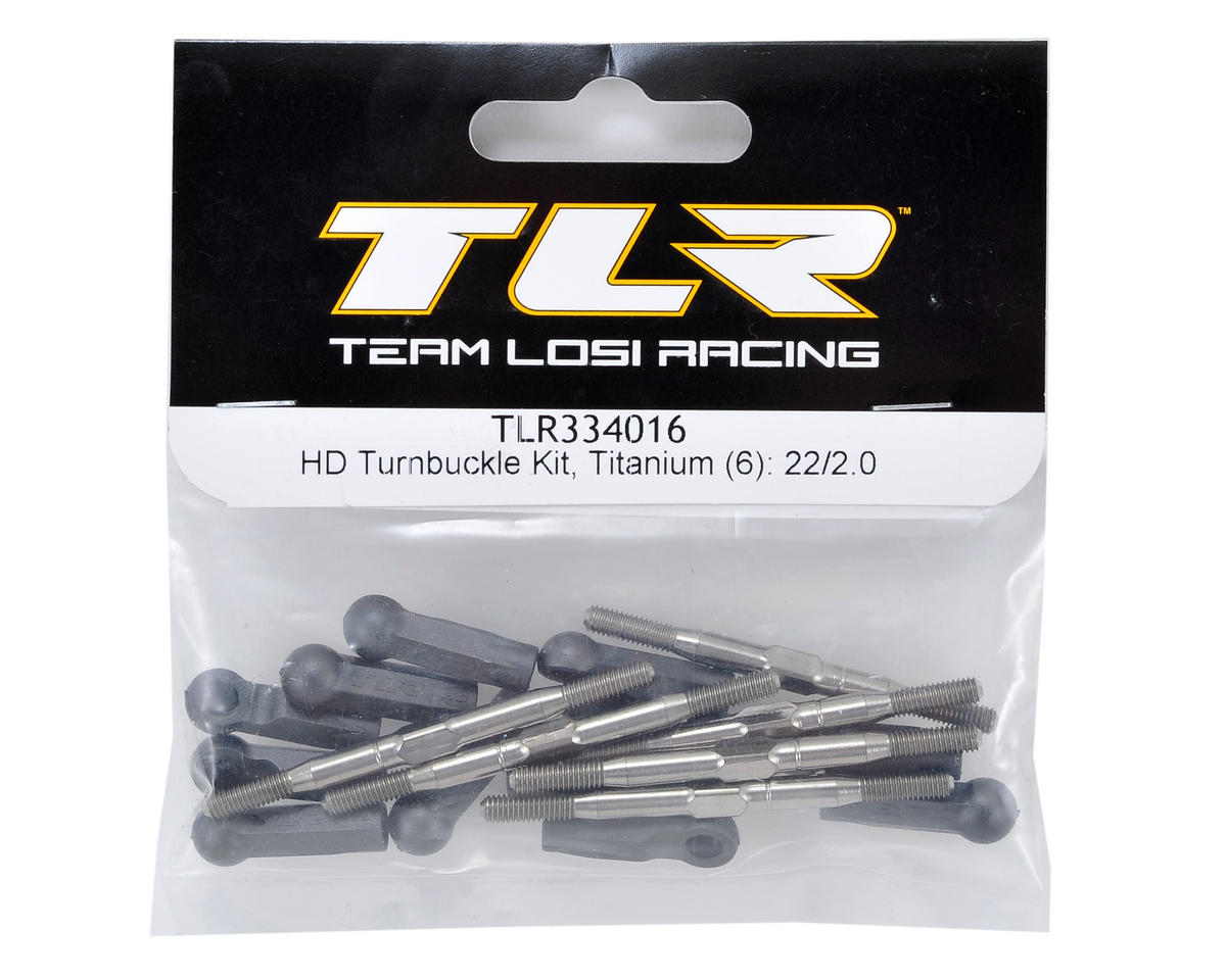 Team Losi Racing 3.5mm HD Titanium Turnbuckle Kit (6)