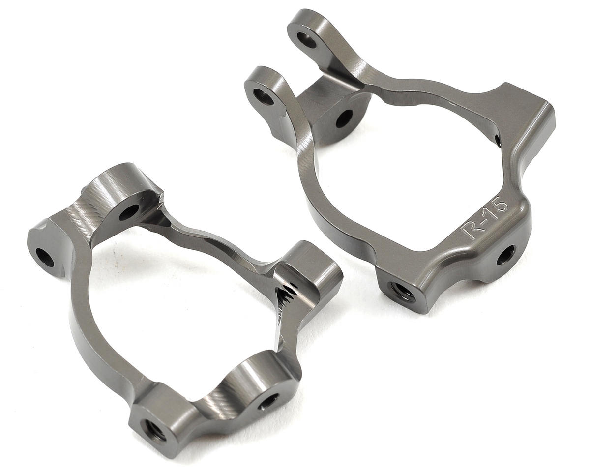 Team Losi Racing Aluminum 15 Degree Front Spindle Carrier (+2mm)