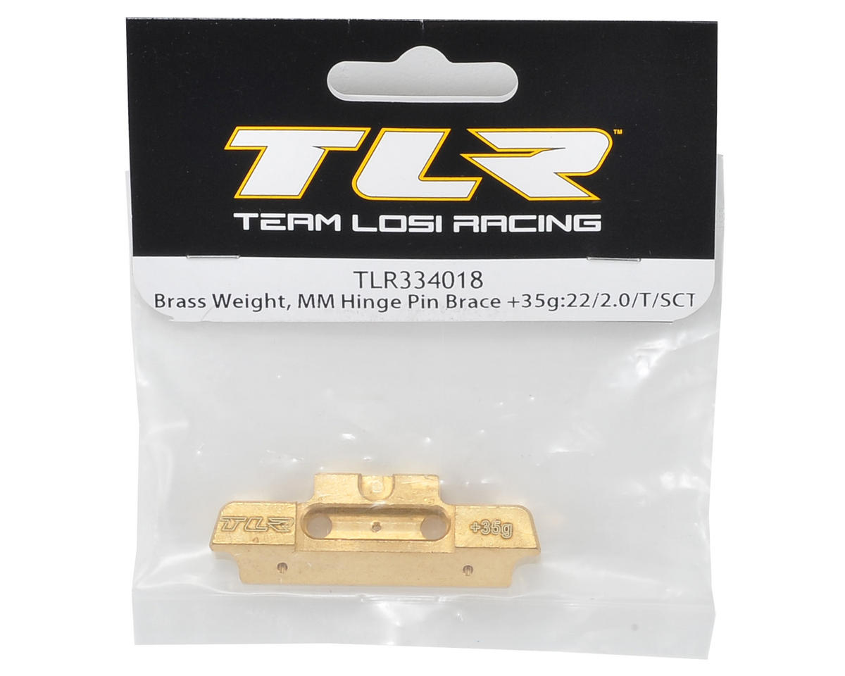 Team Losi Racing MM Hinge Pin Brace Brass Weight (35g)