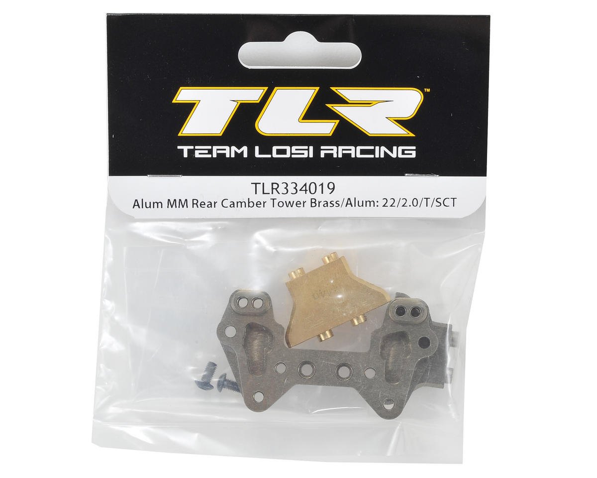 Team Losi Racing Aluminum/Brass Mid Motor Rear Camber Block