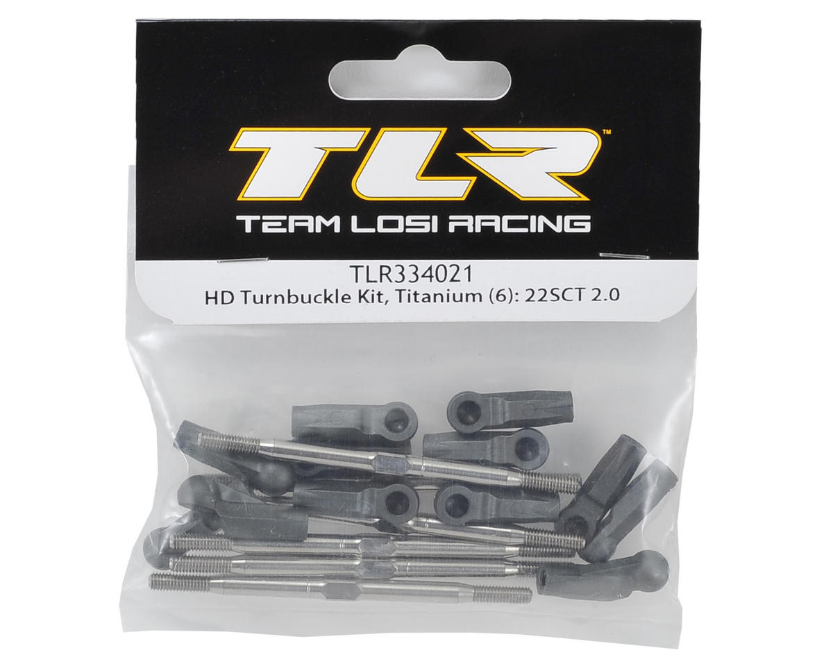 Team Losi Racing Titanium HD Turnbuckle Kit (6)