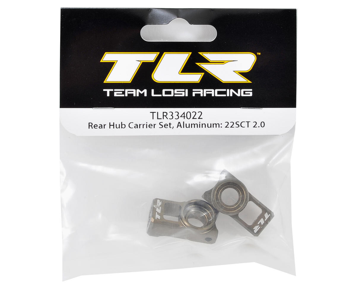 Team Losi Racing Aluminum Rear Hub Carrier (2)