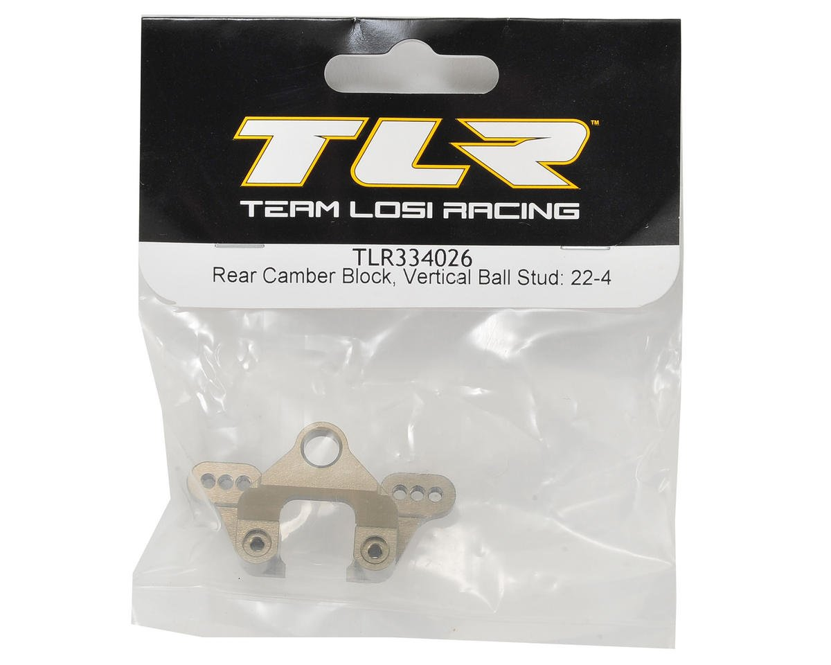 Team Losi Racing Aluminum Rear Camber Block (Vertical Ball Stud)