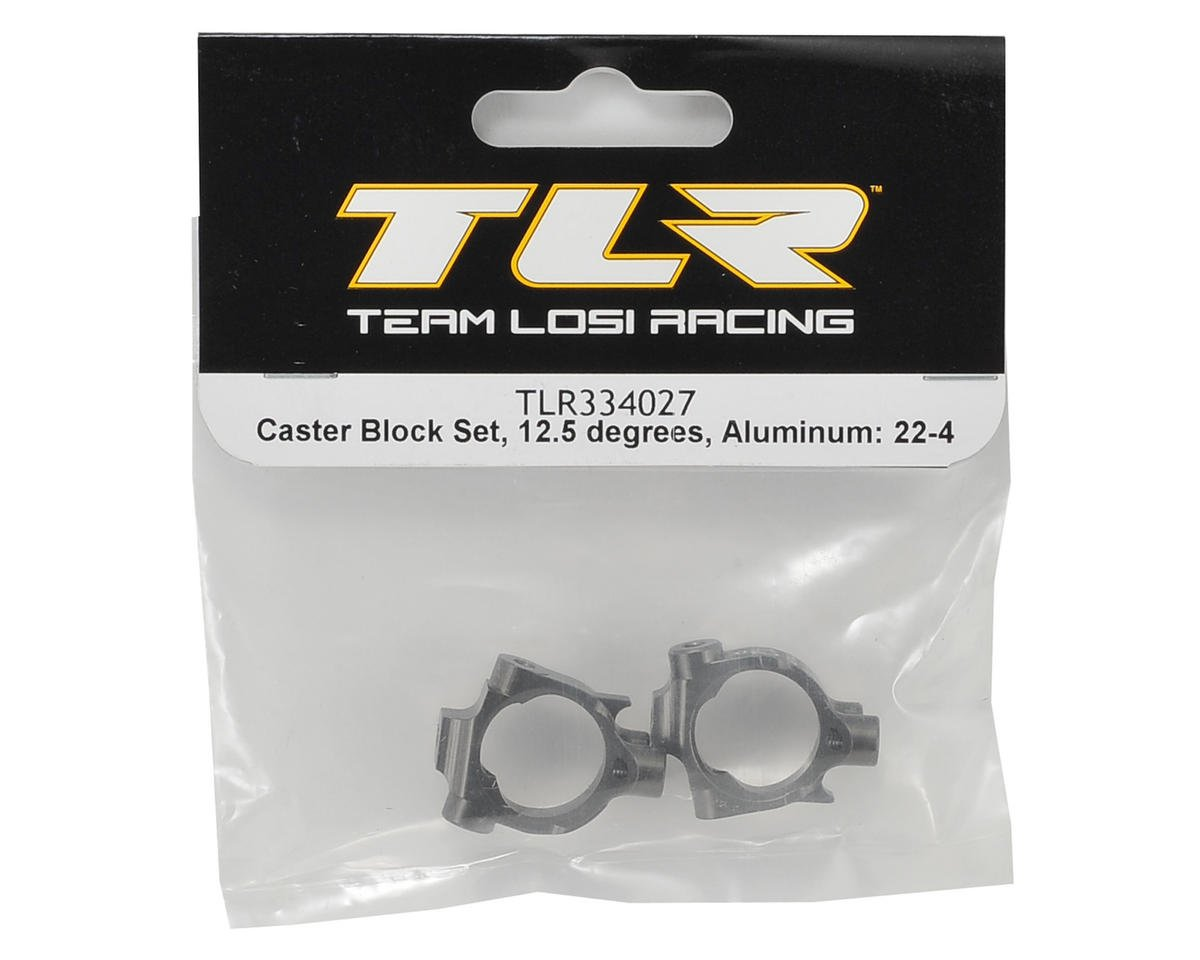 Team Losi Racing 22-4 Aluminum 12.5° Caster Block Set