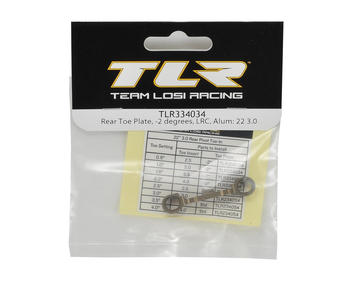 Team Losi Racing 22 3.0 Aluminum LRC Rear Toe Plate (-2°)