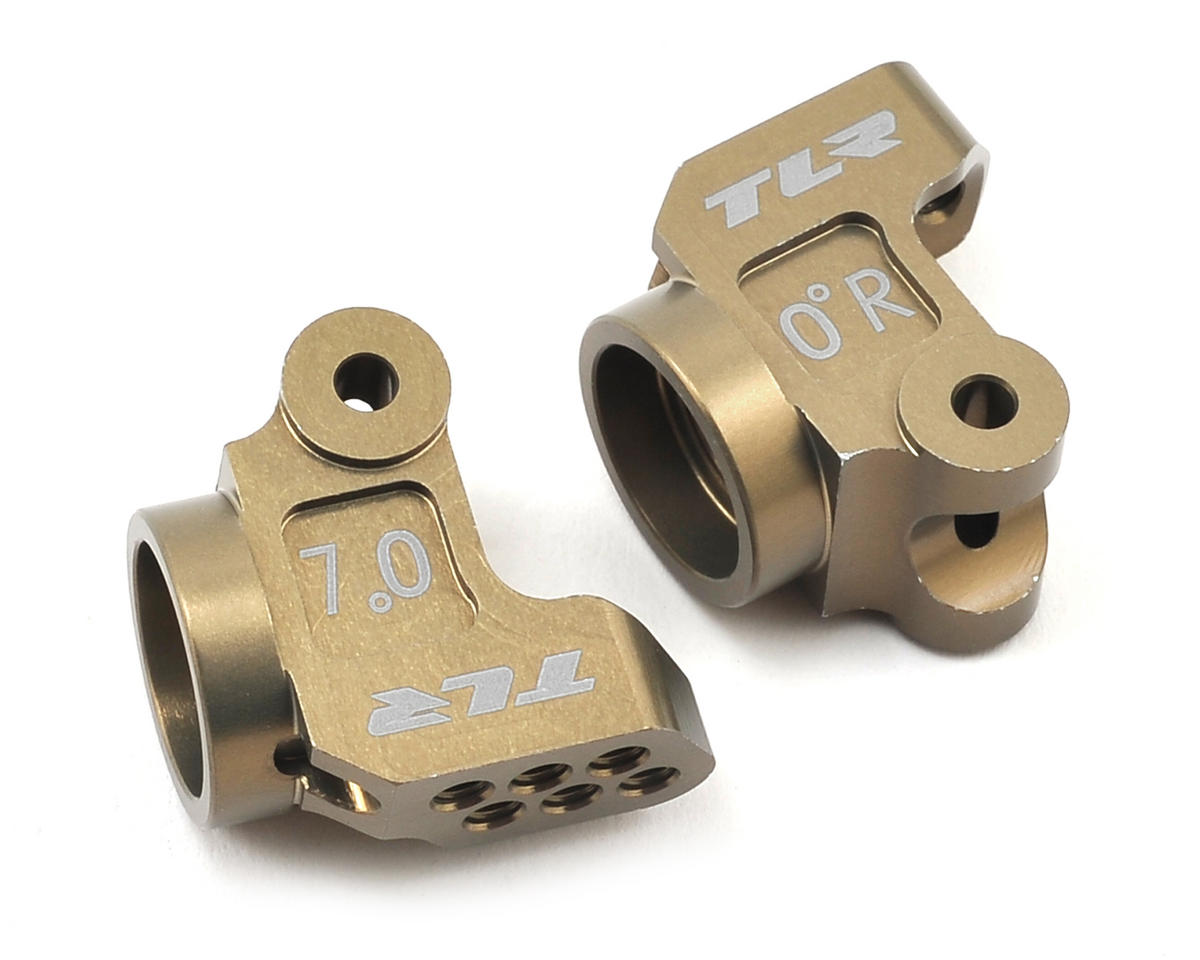 Team Losi 22T Racing Aluminum +3mm Rear Hub Set