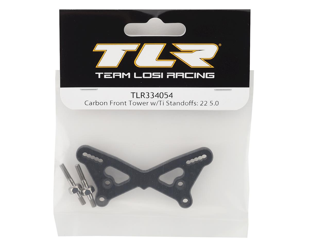Team Losi Racing 22 5.0 Carbon Fiber Front Tower w/Titanium Standoffs