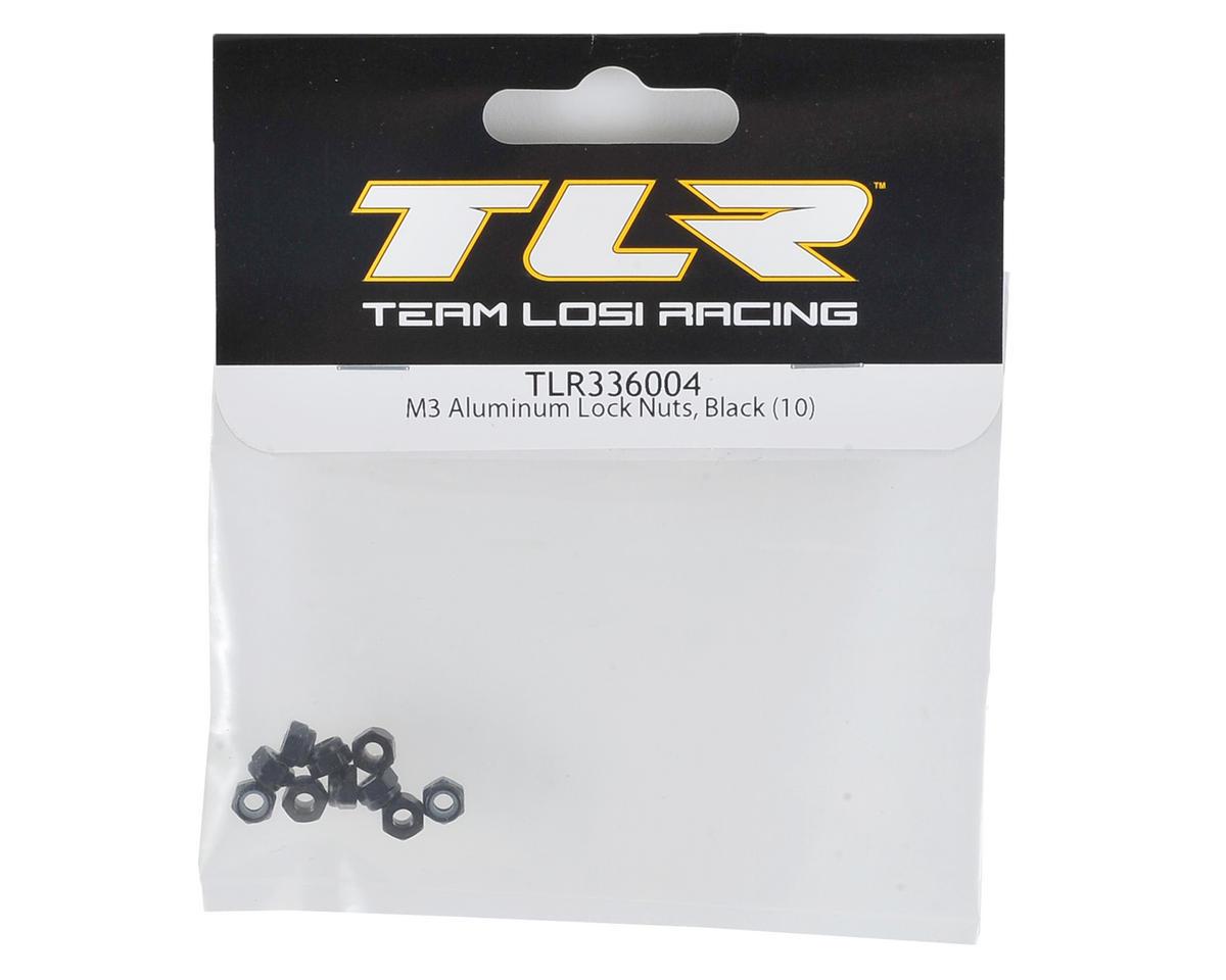 3mm Aluminum Locknuts (10) (Black) by Team Losi Racing