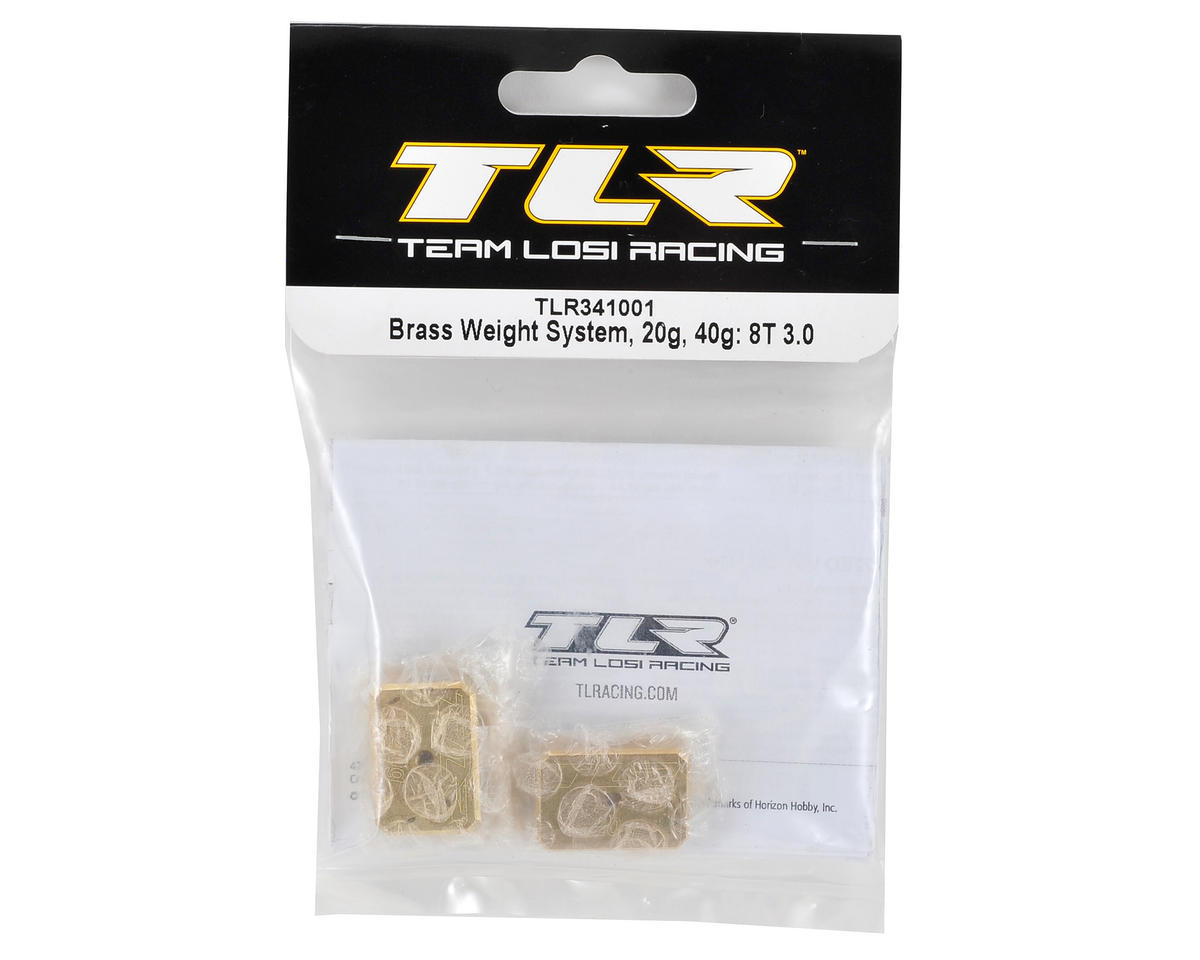 Brass Weight System (20g + 40g) (8IGHT-T 3.0) by Team Losi Racing