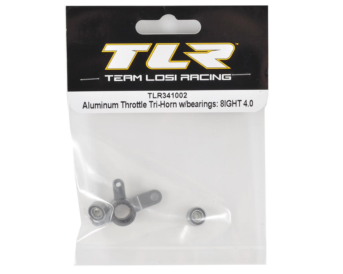 Team Losi Racing Aluminum GEN III Throttle Servo Tri-Horn w/Bearings
