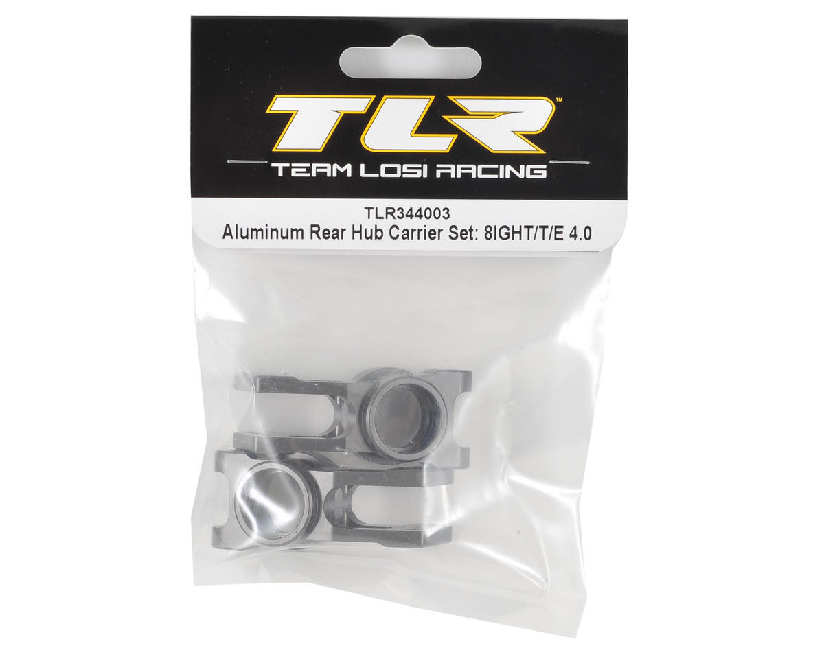 Team Losi Racing Aluminum 8IGHT 4.0 Rear Hub Carrier Set