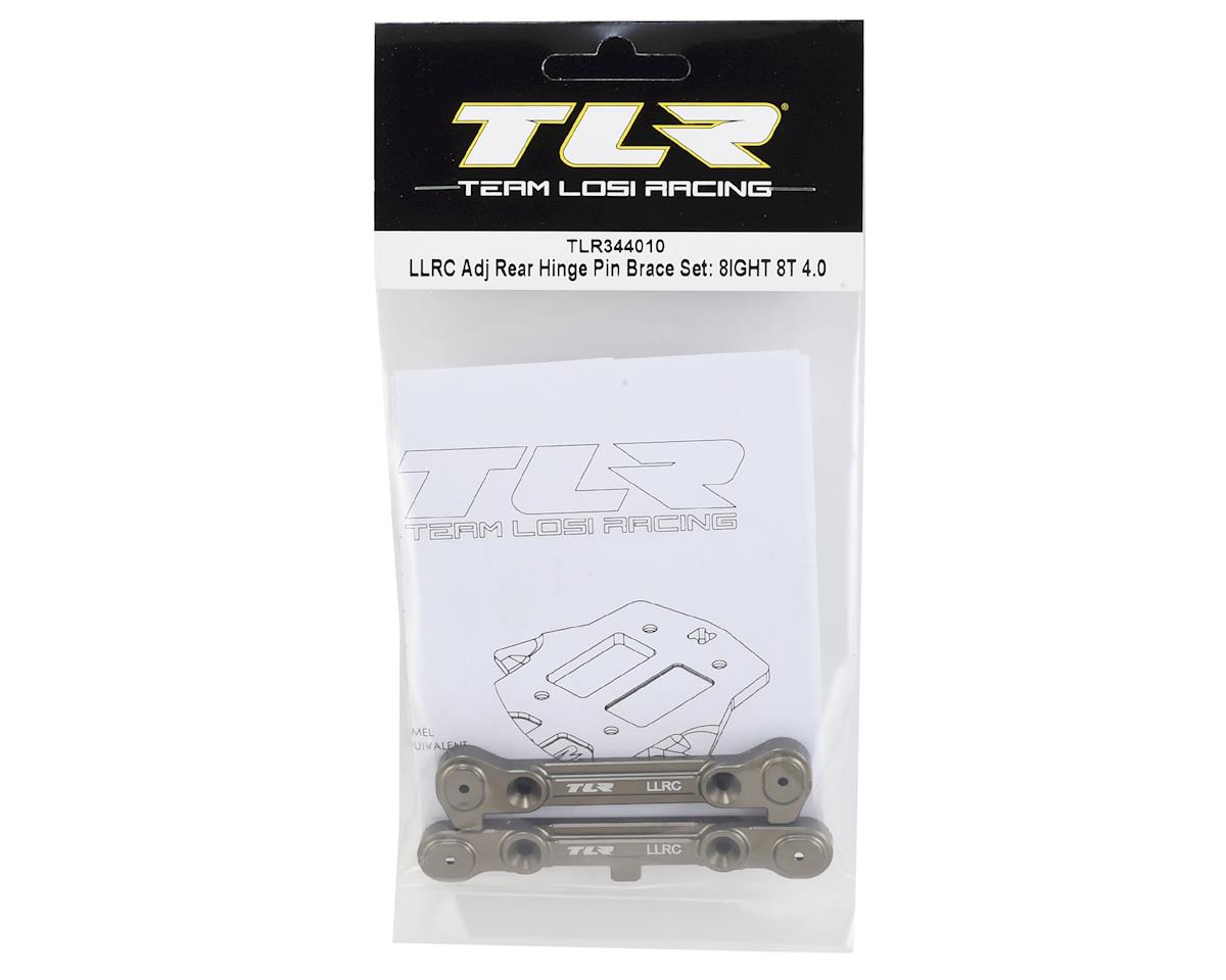 Team Losi Racing 8IGHT/8IGHT T 4.0 LLRC Adjustable Rear Hinge Pin Brace Set