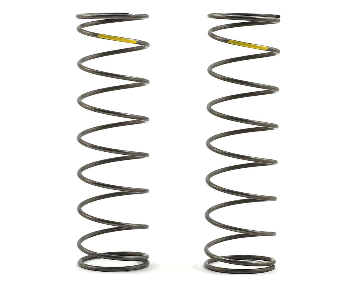 16mm EVO Rear Shock Spring Set (Yellow - 4.2 Rate) (2) by Team Losi Racing