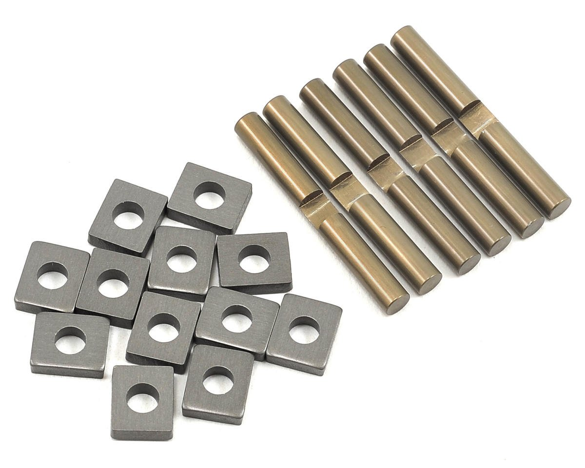 Team Losi 5IVE-T Racing Aluminum Cross Pin & Support Block Set