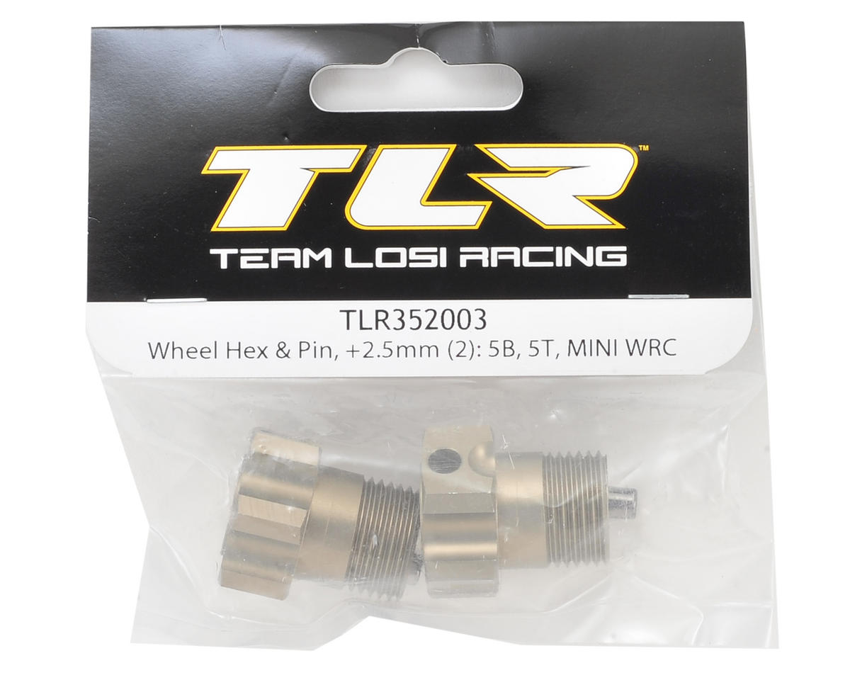 Team Losi Racing +2.5mm 5IVE Front/Rear Wheel Hex Set w/Pin (2)