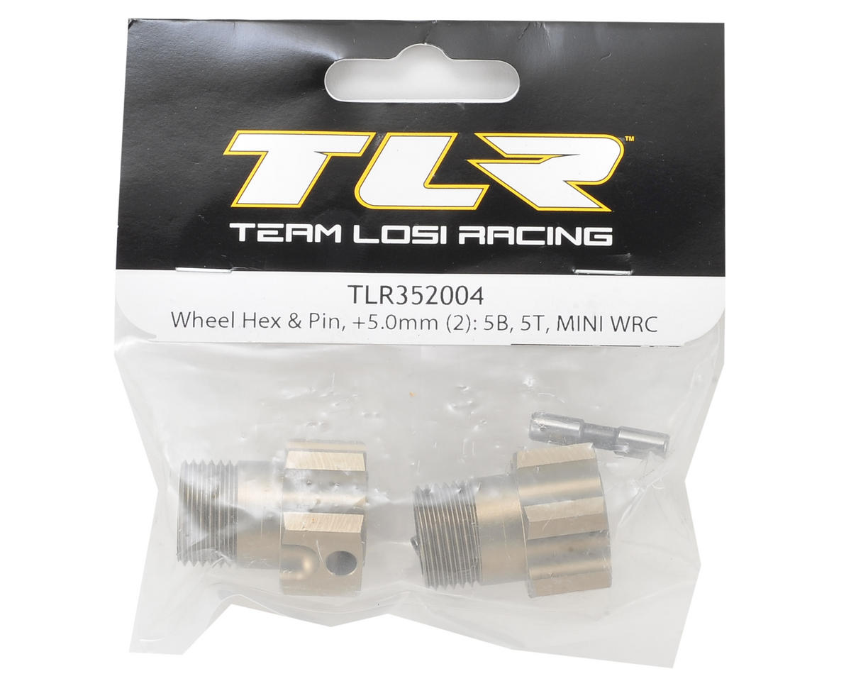 Team Losi Racing +5.0mm 5IVE Front/Rear Wheel Hex Set w/Pin (2)