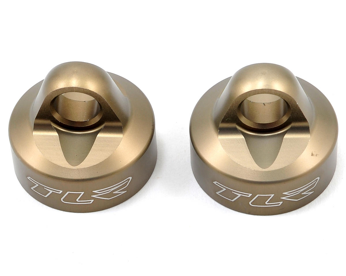 Team Losi Racing Aluminum Shock Cap (2)