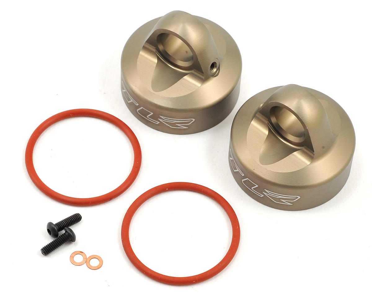 Team Losi 5IVE-B Racing Aluminum Bleeder Shock Cap (2)