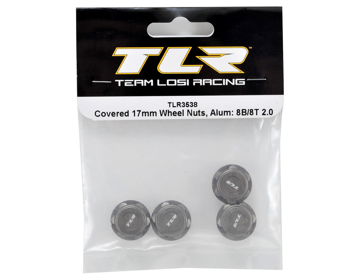 Team Losi Racing Aluminum Covered 17mm Wheel Nuts (Hard Anodized) (4)