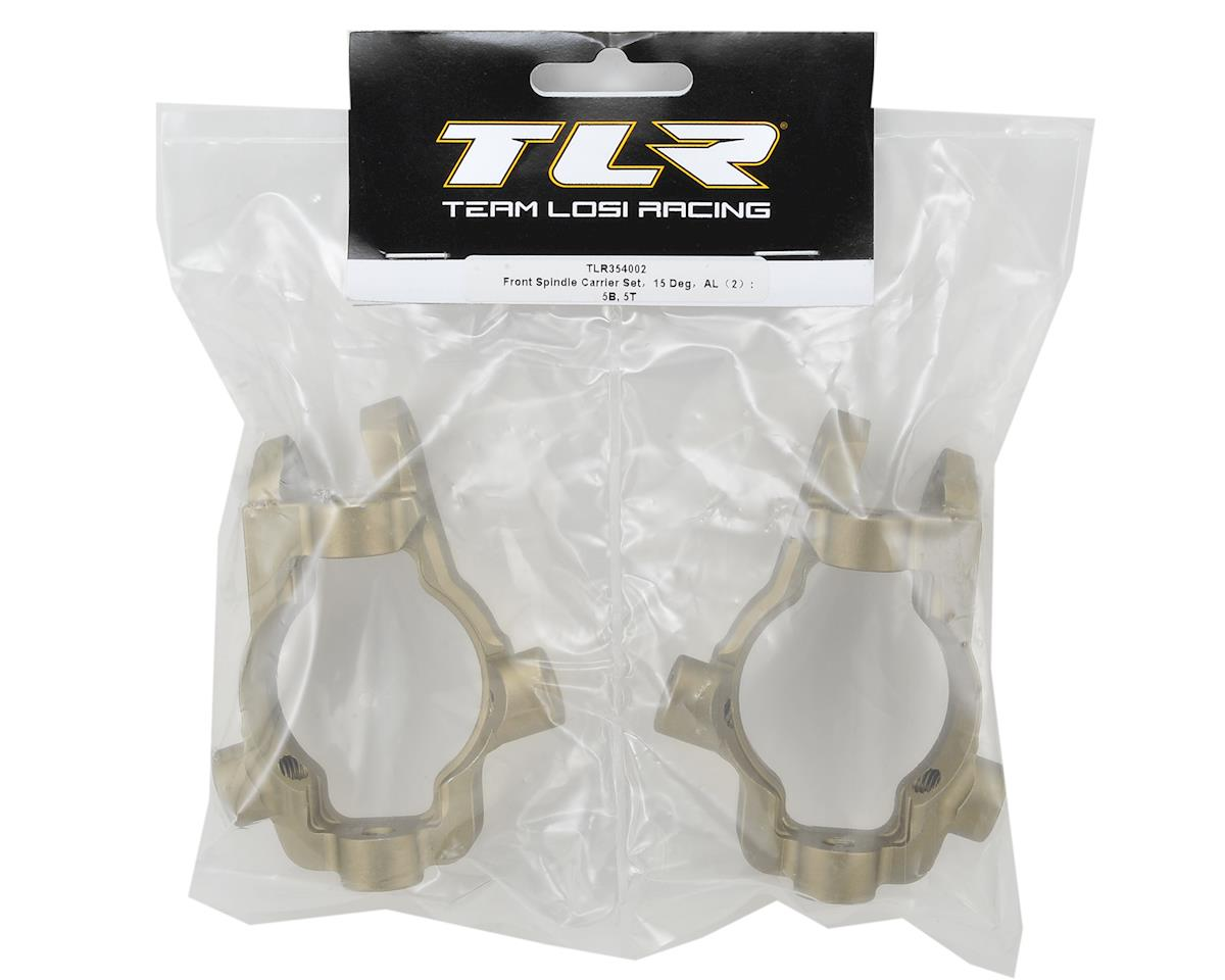 Team Losi Racing 15° 5IVE-B Aluminum Front Spindle Carrier Set (2)