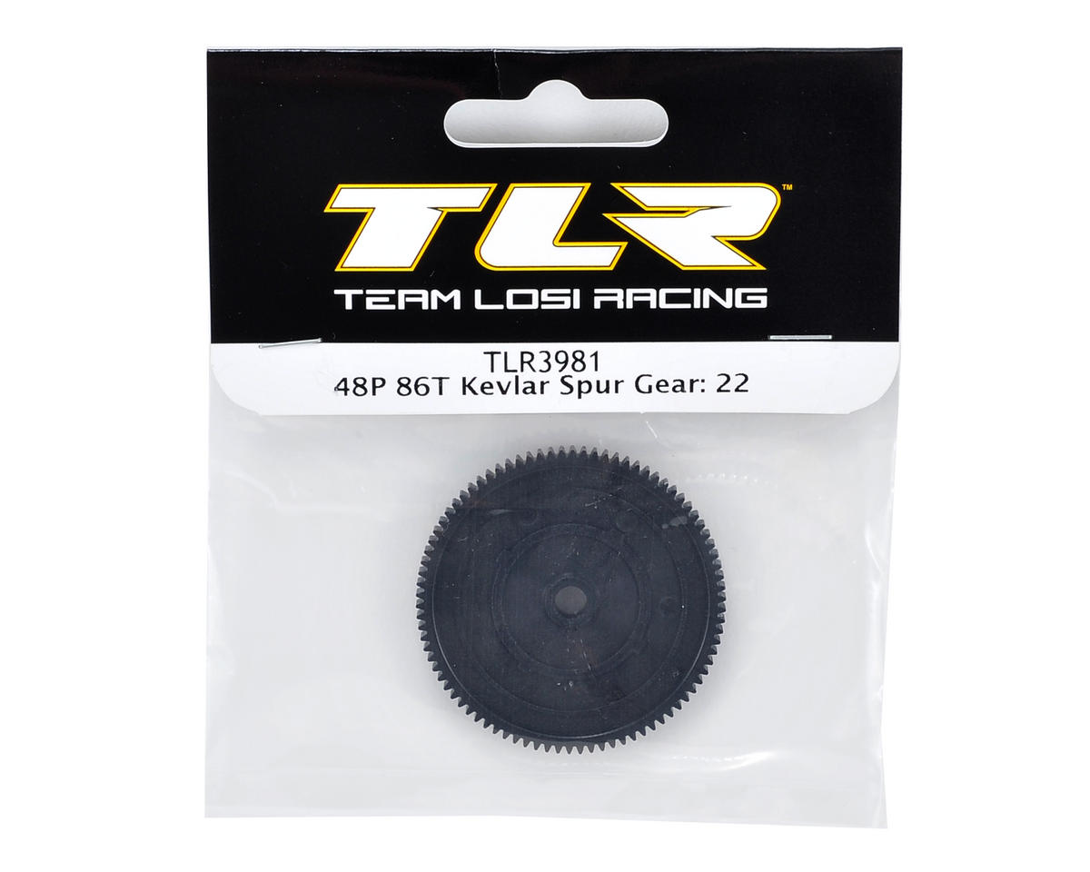 Team Losi Racing 48P Spur Gear (86T) (Made with Kevlar)
